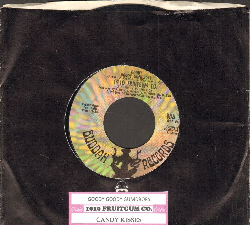 1910 Fruitgum Co. - Goody Goody Gumdrops/Candy Kisses (with juke box label and Buddah company sleeve) - EX8/ - 45 rpm Records
