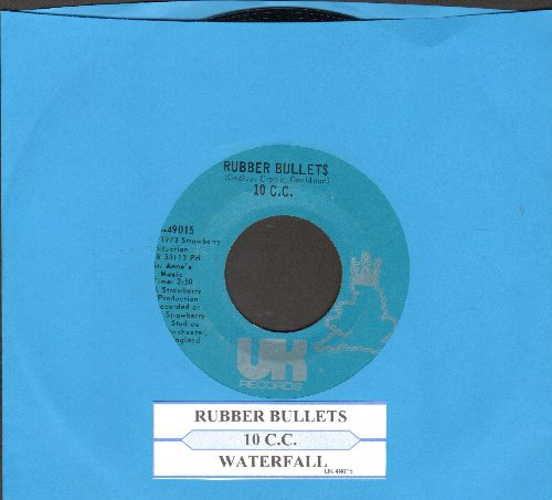 10 C.C. - Rubber Bullets/Waterfall (with juke box label) - NM9/ - 45 rpm Records