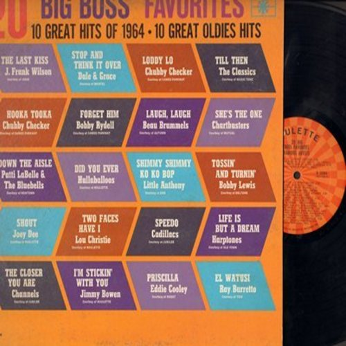 Checker, Chubby, Lou Christie, Cadillacs, Harptones, others - 20 Big Boss Favorites: Shout, Speedo, Two Faces Have I, Life Is But A Dream, The Last Kiss (Vinyl MONO LP record) - NM9/EX8 - LP Records