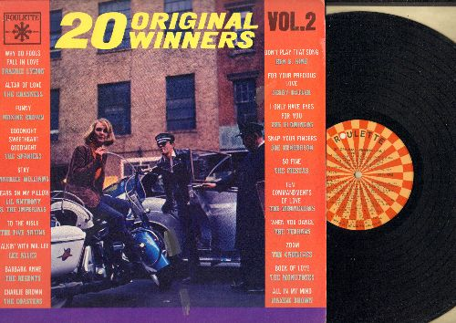 Lymon, Frankie, Channels, Spaniels, Regents, Monotones, Ben E. King, others - 20 Original Winners Vol. 2: Why Do Fools Fall In Love, Goodnight Sweetheart Goodnight, Tears On My Pillow, When You Dance, Book Of Love (Vinyl MONO LP record, NICE condition!) -