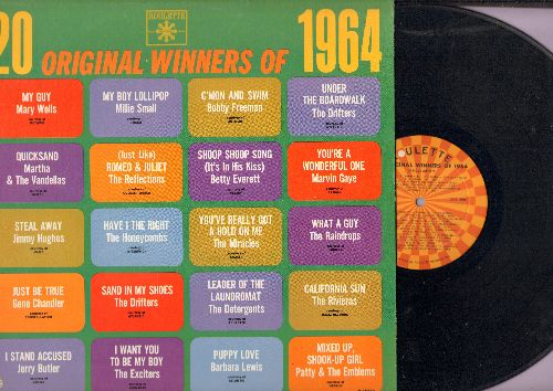 Drifters, Millie Small, Raindrops, Barbara Lewis, others - 20 Original Winners Of 1964: Under The Boardwalk, My Boy Lollipop, California Sun, Have I The Right, C'Mon And Swim, I Stand Accused, Shoop Shoop Song (It's In His Kiss), Quicksand (Vinyl MONO LP
