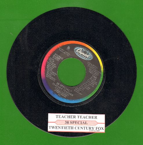 38 Special - Teacher Teacher/Twentieth Century Fox (with juke box label) - NM9/ - 45 rpm Records