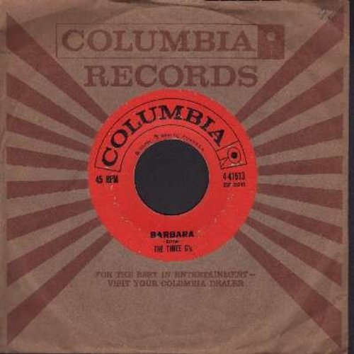 Three G's - Barbara/Don't Cry Kathy (with vintage Columbia company sleeve) - VG7/ - 45 rpm Records