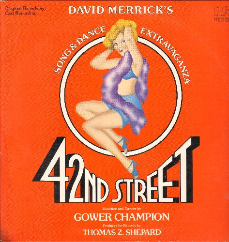 42nd Street - 42nd Street - David Merrick's Song & Dance Extravaganza (vinyl STEREO LP record, gate-fold cover) - NM9/EX8 - LP Records