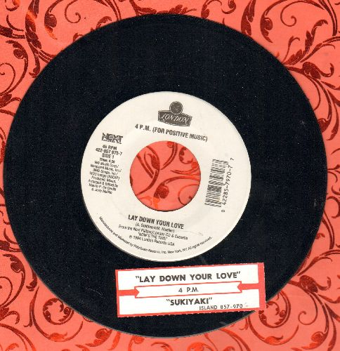 4 P. M. (For Positive Music) - Sukiyaki/Lay Down Your Love (with juke box label) - NM9/ - 45 rpm Records