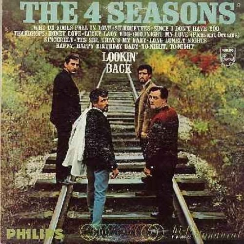 Four Seasons - Lookin' Back: Why Do Fools Fall In Love, Silhouettes, Lucky Lady Bug, Sincerely, Goodnight My Love (Pleasant Dreams), Sincerely, Yes Sir That's My Baby (Vinyl MONO LP record) - VG6/VG6 - LP Records