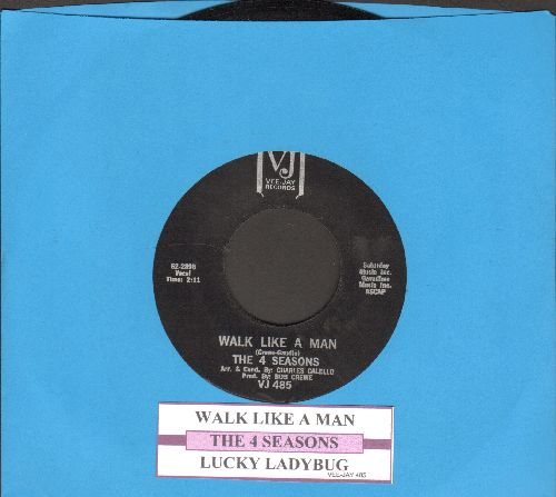 Four Seasons - Walk Like A Man/Lucky Ladybug (black label with juke box label) - NM9/ - 45 rpm Records