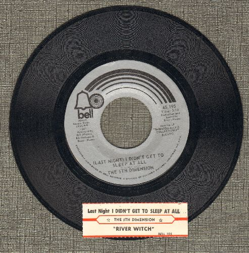 Fifth Dimension - Last Night I Didn't Get To Sleep At All/Eiver Witch (with juke box label) - NM9/ - 45 rpm Records