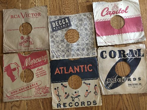 Company Sleeves - 10 inch vintage company sleeves, 6-Pack (exactly as pictured), Enhances and protects you collectable 10 inch 78 rpm record!  - /EX8/EX8 - Supplies