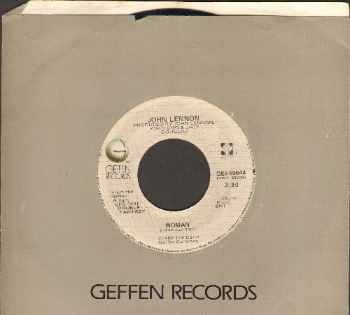Lennon, John - Woman/Beautiful Boys (by Yoko Ono) (with Geffen company sleeve) - EX8/ - 45 rpm Records