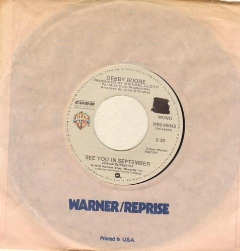 Boone, Debby - See You In September (double-A-sided DJ advance pressing) (wol) - NM9/ - 45 rpm Records