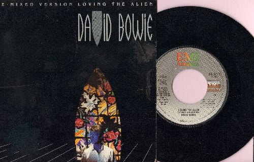 Bowie, David - Loving The Alien - Re-Mixed Versions with picture cover. - NM9/EX8 - 45 rpm Records