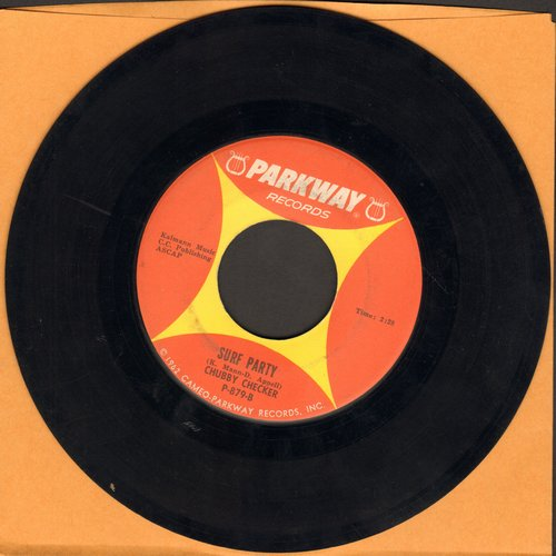 Checker, Chubby - Twist It Up/Surf Party  - VG7/ - 45 rpm Records