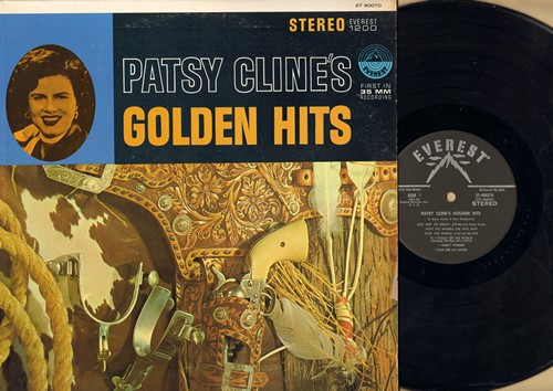 Cline, Patsy - Patsy Cline's Golden Hits: Walking After Midnight, I Don't Wanta, I Can See An Angel, Just Out Of Reach (Vinyl STEREO LP record) - EX8/EX8 - LP Records