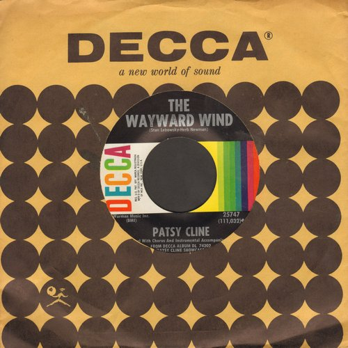 Cline, Patsy - The Wayward Wind/Crazy Arms (with Decca company sleeve) - NM9/ - 45 rpm Records