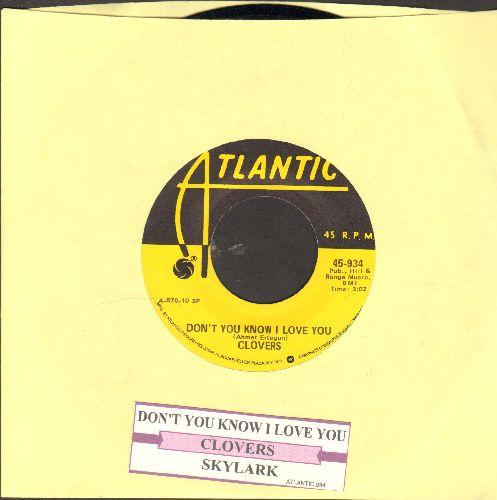 Clovers - Don't You Know I Love You/Skylark (yellow label re-issue with juke box label) - M10/ - 45 rpm Records