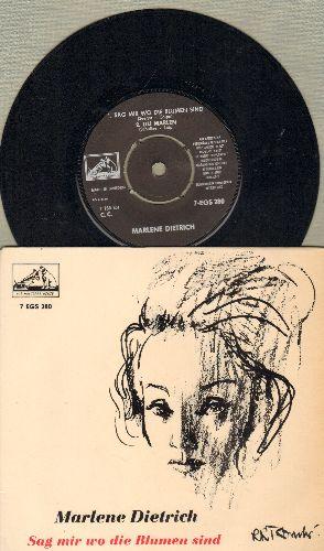 Dietrich, Marlene - Sag mir wo die Blumen sind/Lili Marlen/Ich hab noch einen Koffer in Berlin/Ich bin von Kopf bis Fuss auf Liebe eingestellt (vinyl EP record with picture cover, Swedish Pressing, sung in German) - NM9/NM9 - 45 rpm Records