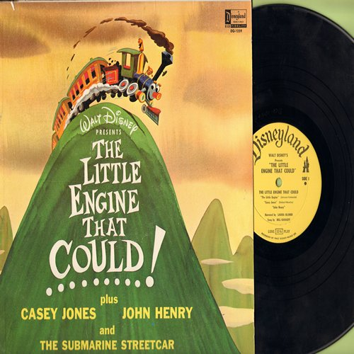 Disney - The Little Engine That Could! Plus Casey Jones, John Henry and The Submarine Street Car (Vinyl MONO LP record) - VG6/VG6 - LP Records