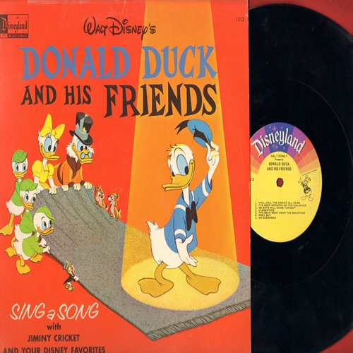 Disney - Donald Duck And His Friends - Sing A Song with Jiminy Cricket & Your Disney Favorites (Vinyl MONO LP record) - VG7/VG7 - LP Records