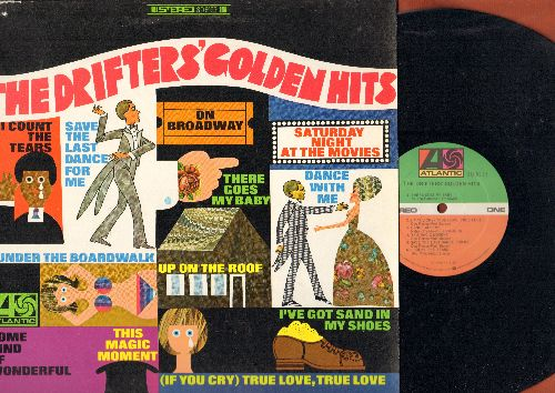 Drifters - The Drifters' Golden Hits: There Goes My Baby, Up On The Roof, This Magic Moment, Save The Last Dance For Me On Broadway (Vinyl STEREO LP record) - NM9/EX8 - LP Records