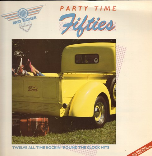 Jackson, Wanda, Crickets, Bobby Darin, Diamonds, others - Party Time Fifties: Let's Have A Party, The Stroll, At The Hop, Mack The Knife, Rock Around The Clock (Vinyl STEREO LP record, re-issue of vintage recordings) - M10/NM9 - LP Records