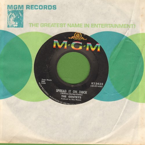 Gentrys - Spread It On Thick/Brown Paper Sack (with MGM company sleeve) - NM9/ - 45 rpm Records