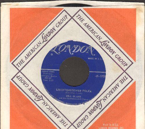 Glahe, Will - Liechtensteiner Polka/Schweizer Kanton Polka (MINT condition with vintage London company sleeve) - EX8/ - 45 rpm Records