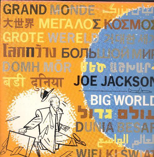 Jackson, Joe - Big World: Wild West, Tonight And Forever, $50 Love Affair, Soul Kiss, The Jet Set (3-sided 2 vinyl STEREO LP record set) - NM9/EX8 - LP Records