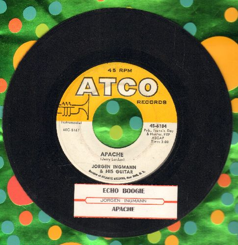Ingmann, Jorgen - Apache/Echo Boogie (with juke box label) - EX8/ - 45 rpm Records