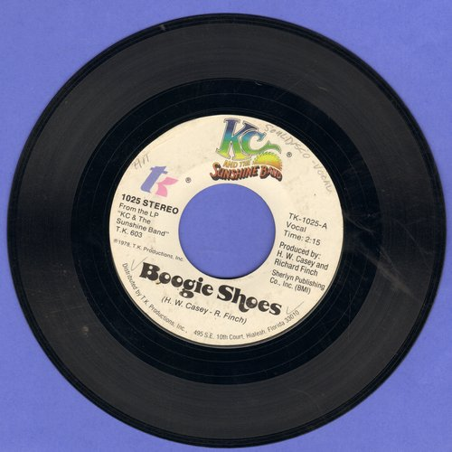 K.C. & The Sunshine Band - Boogie Shoes/I Get Lifted - VG7/ - 45 rpm Records