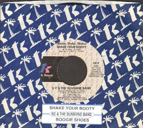 K.C. & The Sunshine Band - Shake Your Booty (Shake Shake Shake)/Boogie Shoes (with T.K. company sleeve and juke box label)) - EX8/ - 45 rpm Records