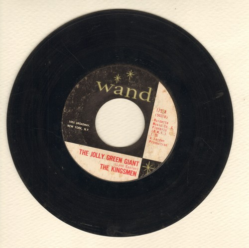 Kingsmen - Jolly Green Giant/Long Green  - VG6/ - 45 rpm Records