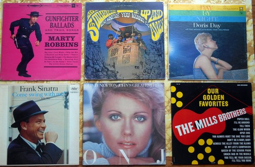 LP Cover 6-Pack - Set #7 includes 6 Vintage LP covers (NO records!) - Exactly as pictured, great for decoration or as replacement covers.  - VG7/ - Supplies