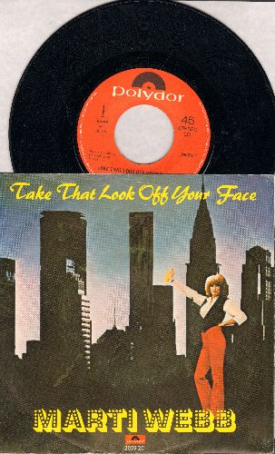 Webb, Marti - Take That Look Off Your Face/Sheldon Boom (German Pressing with picture sleeve) - EX8/VG7 - 45 rpm Records
