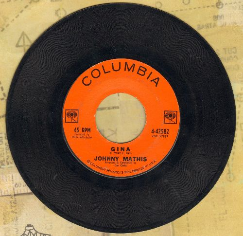 Mathis, Johnny - Gina/I Love Her That's Why (wol) - EX8/ - 45 rpm Records