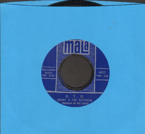 Ronny & The Daytonas - G.T.O./Hot Rod Baby (with juke box label) - EX8/ - 45 rpm Records
