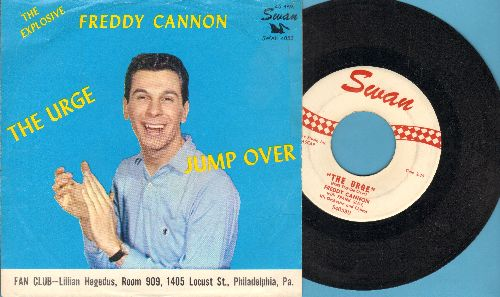 Cannon, Freddy - Jump Over/The Urge (with picture sleeve) - EX8/EX8 - 45 rpm Records
