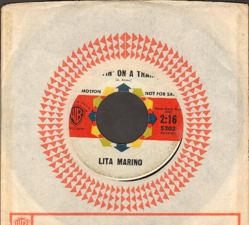 Marino, Lita - Sittin' On A Train/Big Daddy (DJ advance pressing with Warner Brothers company sleeve) - EX8/ - 45 rpm Records