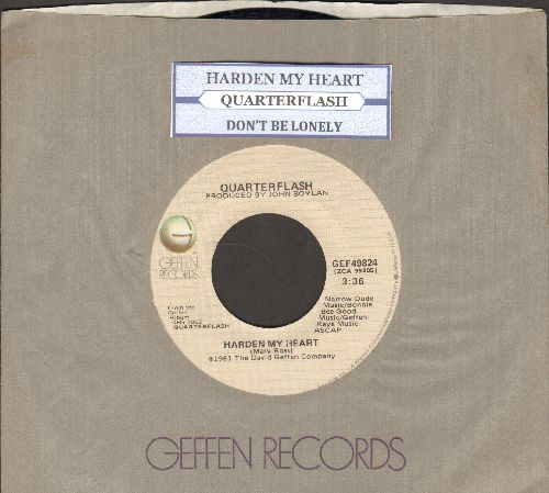 Quarterflash - Harden My heart/Don't Be Lonely (with juke box label and Geffen company sleeve) - NM9/ - 45 rpm Records