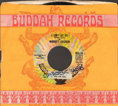 Nobody's Children - I Can't Let Go/Don'tcha Feel Like Cryin' (RARE DJ advance pressing with Buddah company sleeve) - NM9/ - 45 rpm Records