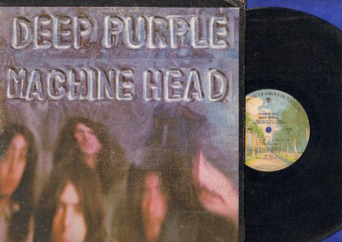 Deep Purple - Machine Head: Smoke On The Water, Highway Star, Lazy, Pictures Of Home (vinyl STEREO LP record, gate-fold cover) - VG7/EX8 - LP Records