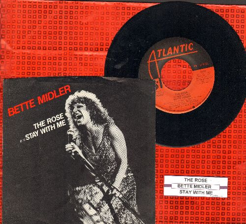 Midler, Bette - The Rose/Stay With Me (NICE condition with picture sleeve and juke box label) - NM9/NM9 - 45 rpm Records