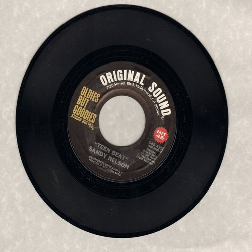 Nelson, Sandy - Teen Beat/Bongo Rock (by Preston Epps on flip side) (re-issue) - M10/ - 45 rpm Records
