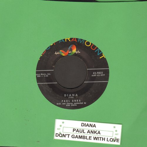 Anka, Paul - Diana/Don't Gamble With Love (with juke box label) (sol) (wol) - VG7/ - 45 rpm Records