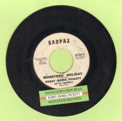 Pickett, Bobby (Boris) - Monsters' Holiday/Monster Motion (RARE follow-up to novelty hit Monster Mash, with juke box label) - EX8/ - 45 rpm Records