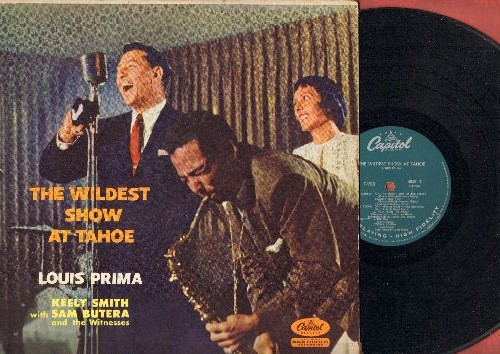Prima, Louis & Keely Smith - The Wildest Show At Tahoe: On The Sunny Side Of The Street, How High The Moon, I'm In The Mood For Love (Vinyl MONO LP record) - VG7/VG7 - LP Records
