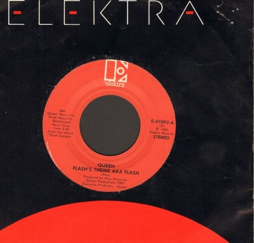 Queen - Flash's Theme AKA Flash/Football Fight (with company sleeve) - EX8/ - 45 rpm Records