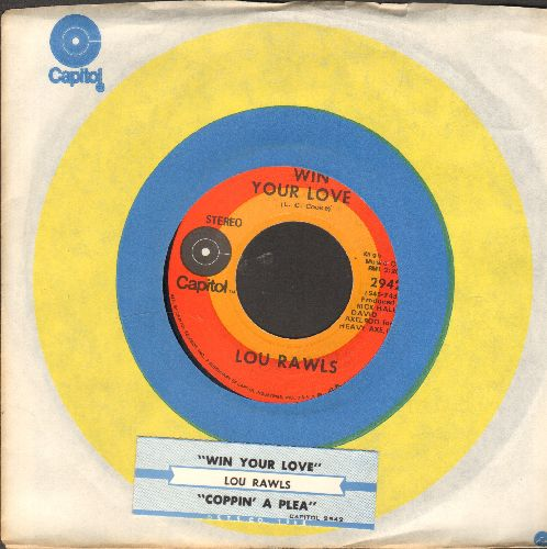 Rawls, Lou - Win Your Love/Coppin' A Plea (NICE condition with Capitol company sleeve and juke box label) - NM9/ - 45 rpm Records