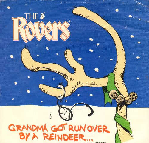 Rovers - Merry Bloody X-Mas/Grandma Got Run Over By A Reindeer (with picture sleeve) - EX8/EX8 - 45 rpm Records