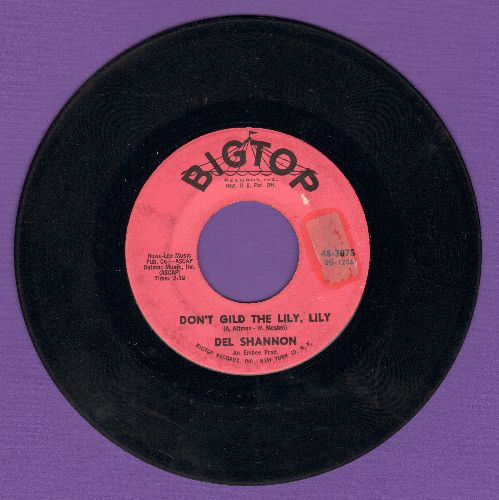 Shannon, Del - Hats Off To Larry/Don't Gild The Lily, Lily (Overlooked FANTASTIC flip-side!)  - VG7/ - 45 rpm Records